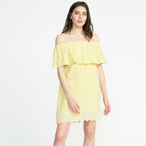 1b35701882c Old Navy Dresses | Yellow Plus Gingham Yellow Dress New Nwt | Poshmark